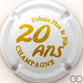 Champagne capsule  20 ans, blanc et or