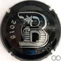 Champagne capsule A2.b B 2018 - noir et argent