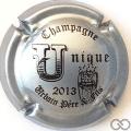Champagne capsule 17 U, comme Unique