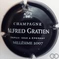 Champagne capsule 15.b Noir et blanc, millésime 2007