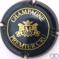 Champagne capsule 9 Bleu-métal et or, 1er cru