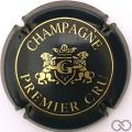 Champagne capsule 4.a Bleu-noir et or, premier cru, lettres fines, G dans l'écusson