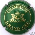 Champagne capsule 3 Vert et or, G dans l'écusson