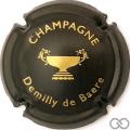 Champagne capsule 4 Noir mat et or
