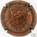 Champagne capsule 30.e Estampée vieux bronze