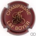 Champagne capsule 6 Bordeaux foncé et or