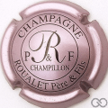 Champagne capsule 3.c Rosé-violacé et noir