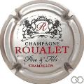Champagne capsule 8 Argent, noir et rouge