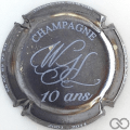 Champagne capsule 9.d 10 ans, nickel et blanc