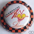 Champagne capsule 1112.j An 2020, contour à damier noir et orange, L'annexe