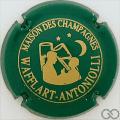 Champagne capsule 16.c Vert et or, inscription sur contour