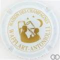 Champagne capsule 16.a Blanc et or, inscription sur contour