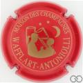Champagne capsule 16.b Rouge et or, inscription sur contour