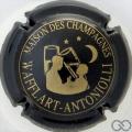 Champagne capsule 16 Noir et or, inscription sur contour
