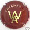 Champagne capsule 14 Bordeaux et or