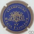 Champagne capsule 4 Bleu et or, striée