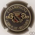 Champagne capsule 3 Noir, or et rouge, striée