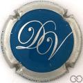 Champagne capsule 21.e Bleu, contour métal