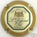 Champagne capsule 14 Contour ocre et vert