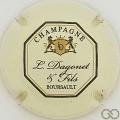 Champagne capsule 18 Crème et vert foncé, octogone fin, verso or