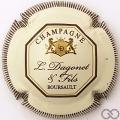 Champagne capsule 17 Crème et marron, striée, verso or