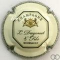 Champagne capsule 16 Crème et vert foncé, striée, verso or