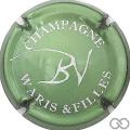 Champagne capsule 3 Vert métallisé et blanc