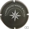 Champagne capsule 1 Rosace, noir et gris