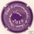 Champagne capsule 16.b Violet foncé et blanc, 2019