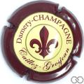 Champagne capsule 3 Contour bordeaux foncé