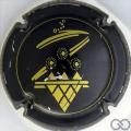 Champagne capsule 27 Noir et or, inscription sur le contour