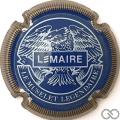 Champagne capsule F16.c Bleu et blanc, striée or