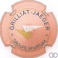 Champagne capsule F9.f Rosé, bleu, or et argent