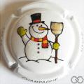 Champagne capsule F38.d Hiver, bonhomme de neige