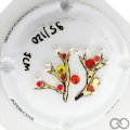 Champagne capsule A97 PALM en relief avec strass et perles