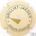 Champagne capsule F9.e Crème, bleu, or et argent