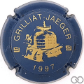 Champagne capsule F10.d 1997, bleu et or