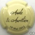 Champagne capsule H6711 Crème et noir