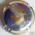 Champagne capsule F9.g Métal, bleu, or et argent