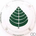 Champagne capsule H10305 Blanc et vert, verso or