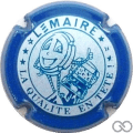 Champagne capsule F20.c Blanc et bleu, contour bleu