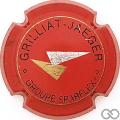 Champagne capsule F9.d Rouge, noir, or et argent