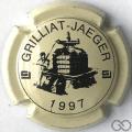 Champagne capsule F10 1997, crème et noir