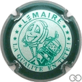Champagne capsule F20.d Crème et vert, contour vert