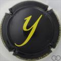 Champagne capsule 19.aj Y jaune, verso blanc
