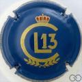 Champagne capsule 17 Bleu et or