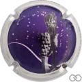 Champagne capsule 43.h Violet, contour métal