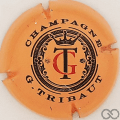 Capsule de champagne TRIBAUT 36c. gris-argenté et rouge