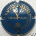 Champagne capsule 9.b Flûte, bleu et or