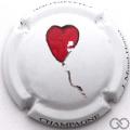 Champagne capsule 24.d PALM, cœur rouge